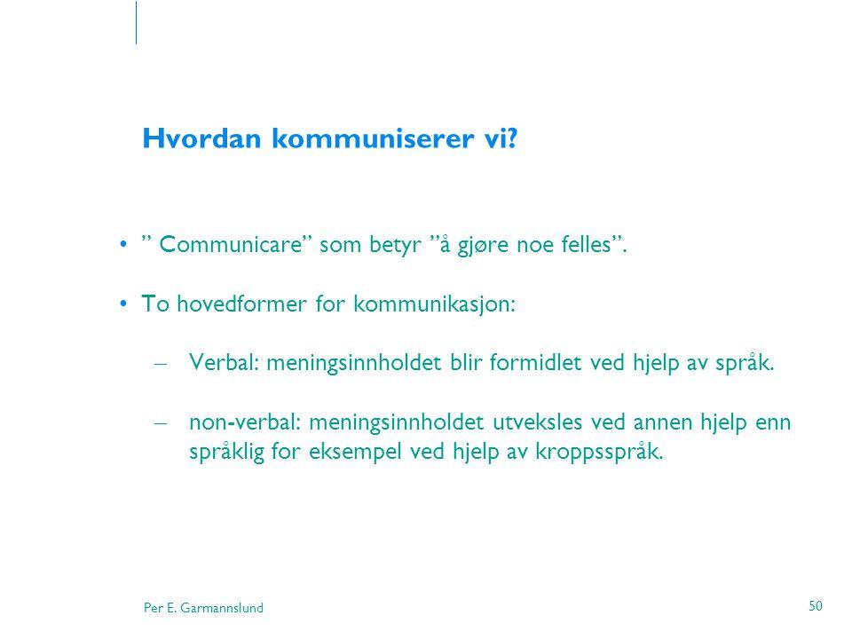 Hvordan kommuniserer vi