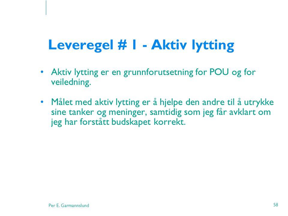 Leveregel # 1 - Aktiv lytting