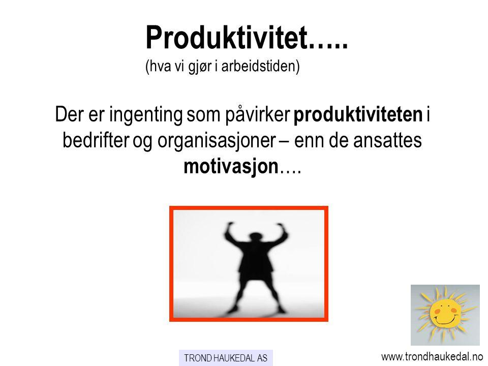 Produktivitet….. (hva vi gjør i arbeidstiden)