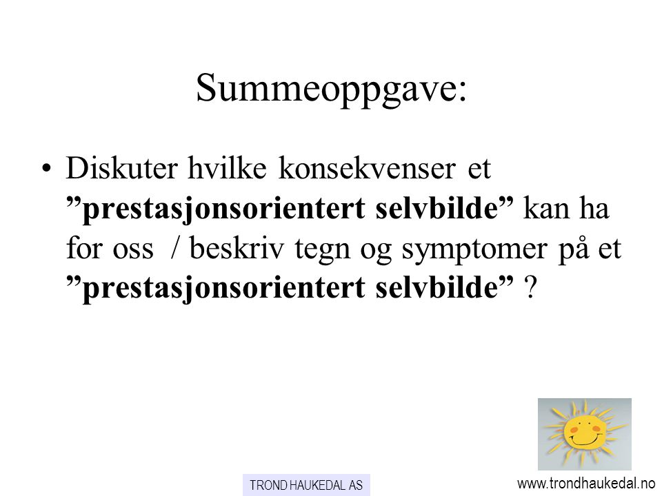 Summeoppgave: