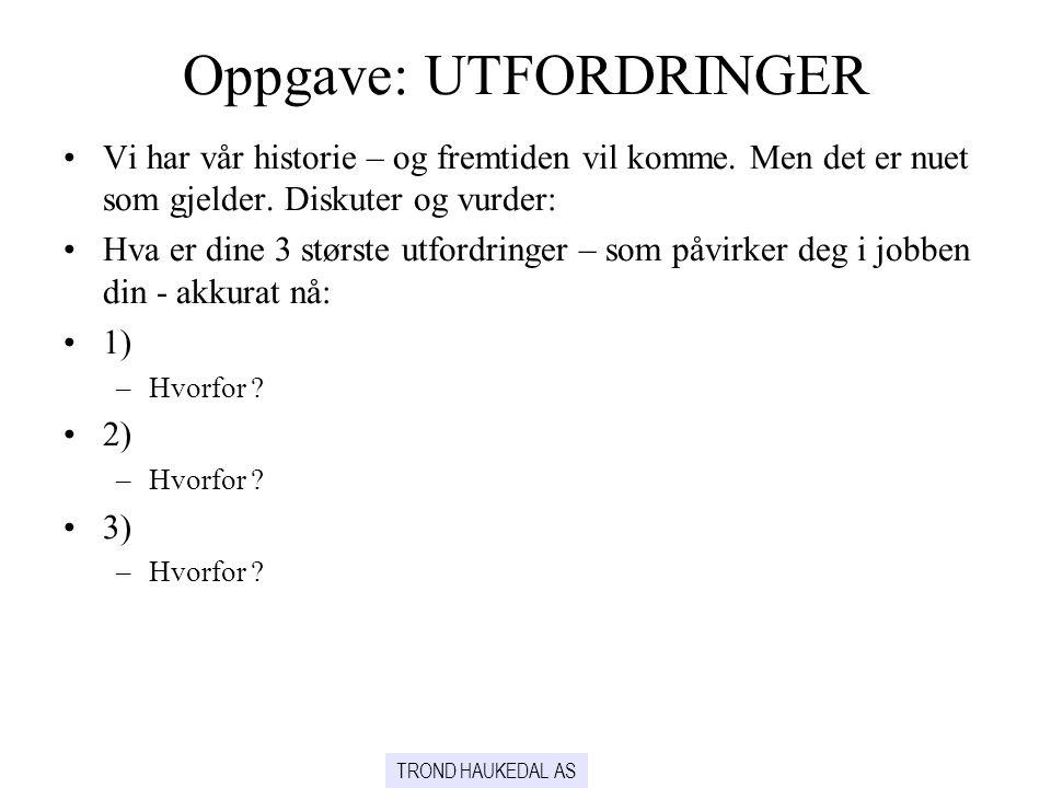 Oppgave: UTFORDRINGER