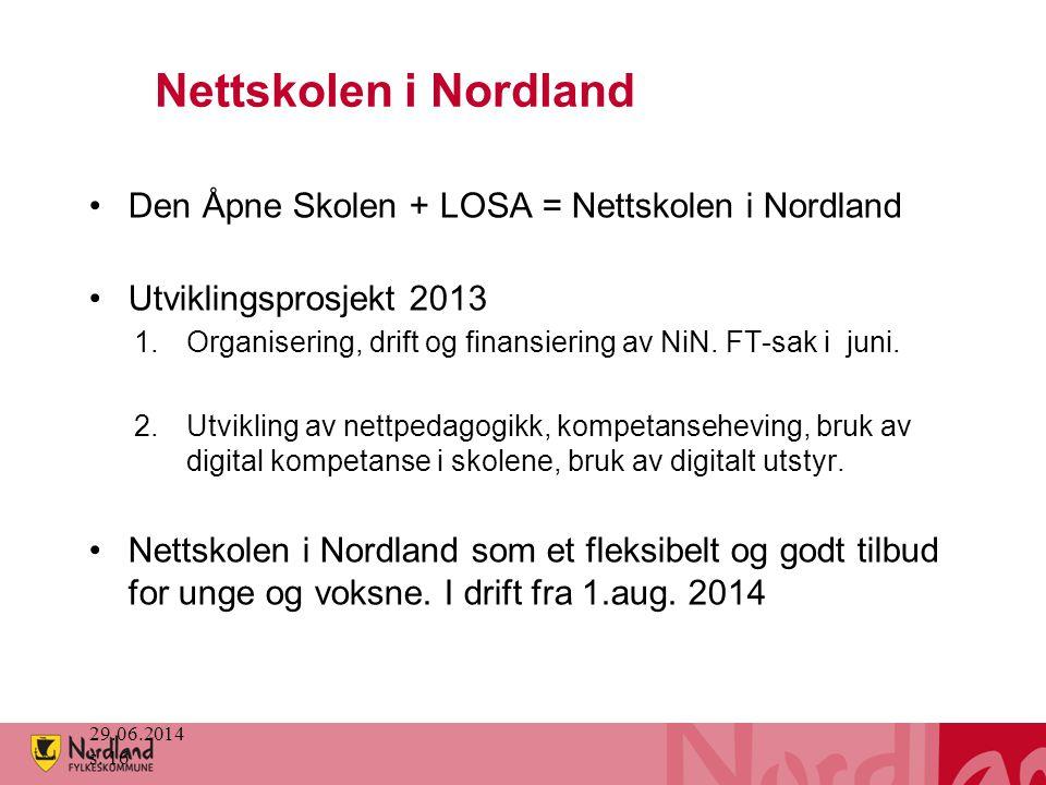 Nettskolen i Nordland Den Åpne Skolen + LOSA = Nettskolen i Nordland
