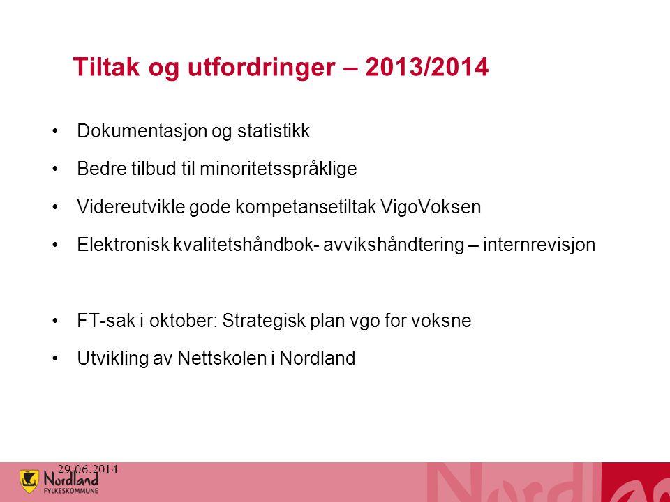 Tiltak og utfordringer – 2013/2014