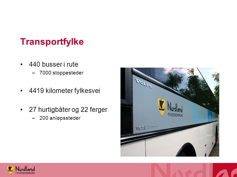 Transportfylke 440 busser i rute 4419 kilometer fylkesvei