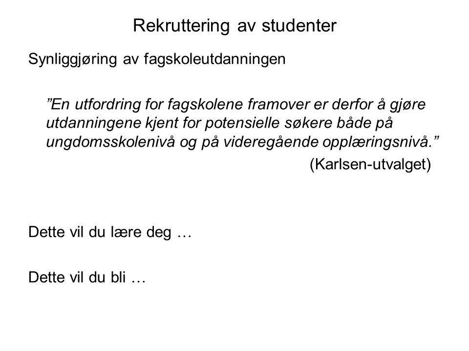Rekruttering av studenter