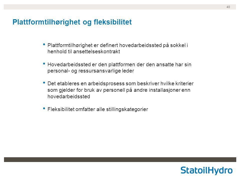 Plattformtilhørighet og fleksibilitet