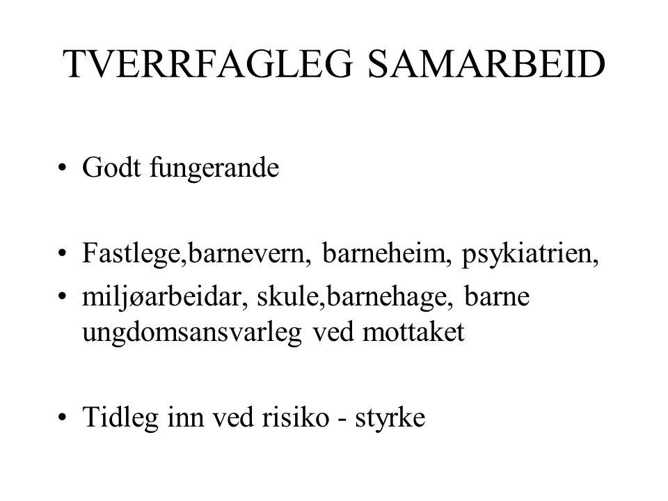 TVERRFAGLEG SAMARBEID