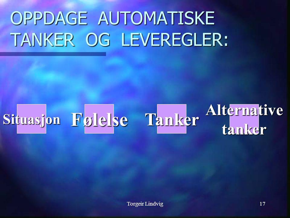 OPPDAGE AUTOMATISKE TANKER OG LEVEREGLER: