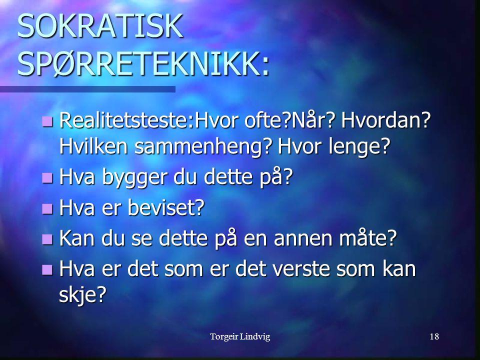 SOKRATISK SPØRRETEKNIKK: