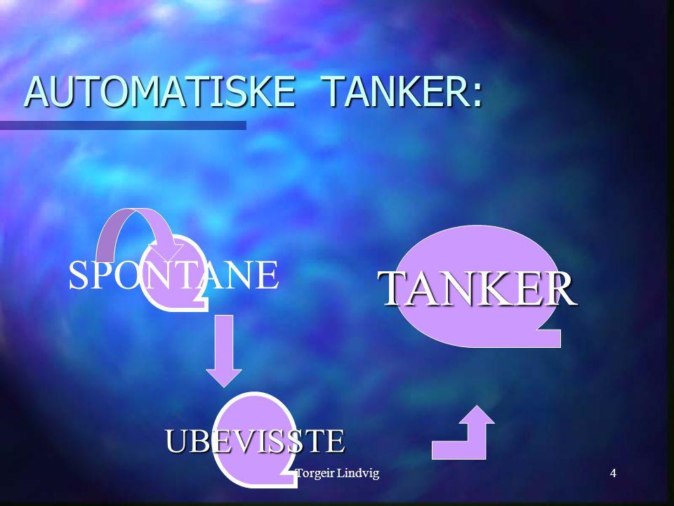 AUTOMATISKE TANKER: TANKER SPONTANE UBEVISSTE Torgeir Lindvig