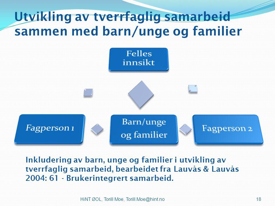 Utvikling av tverrfaglig samarbeid sammen med barn/unge og familier