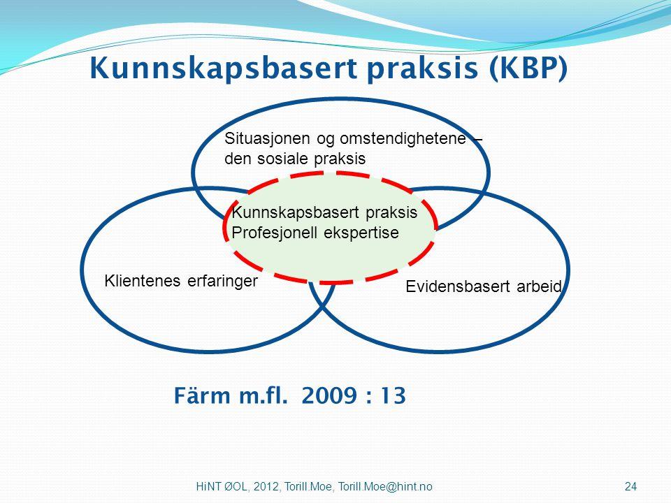Kunnskapsbasert praksis (KBP)