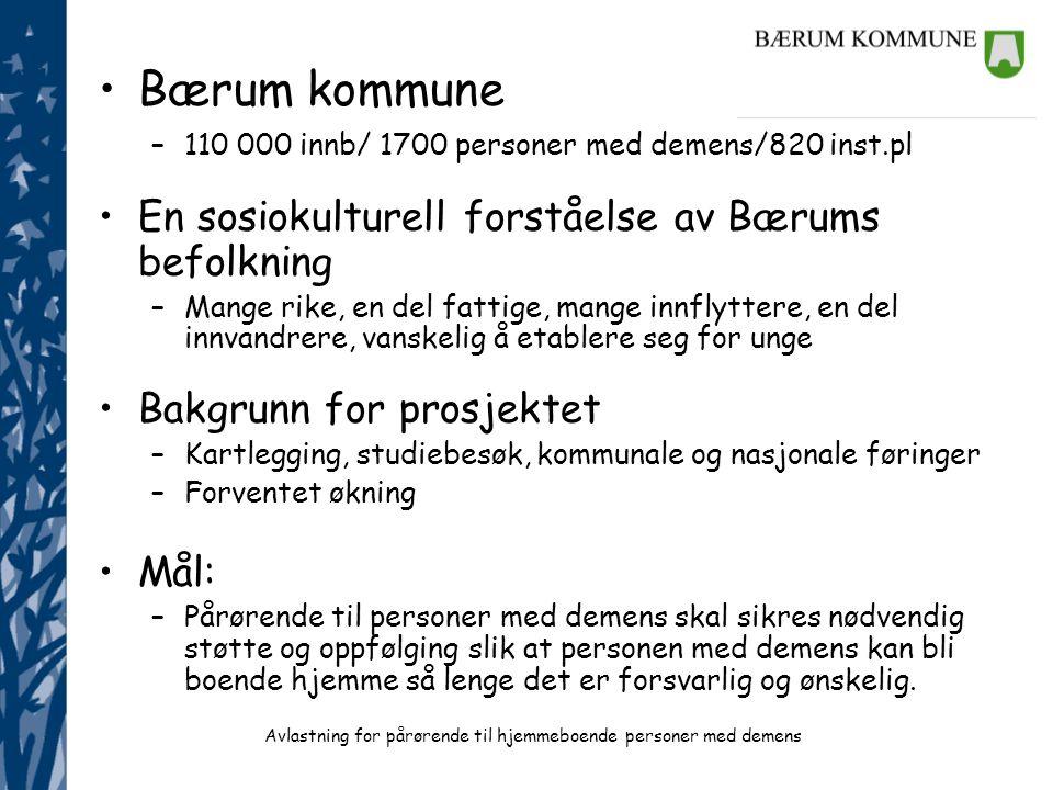 Bærum kommune En sosiokulturell forståelse av Bærums befolkning