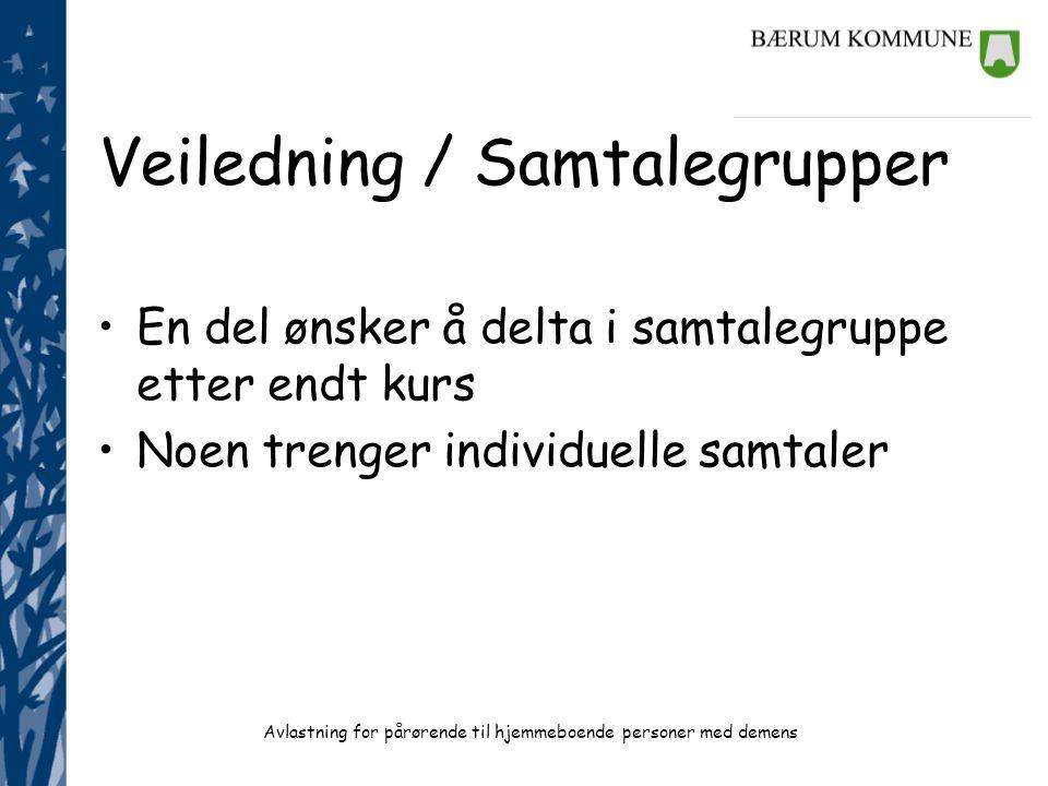 Veiledning / Samtalegrupper