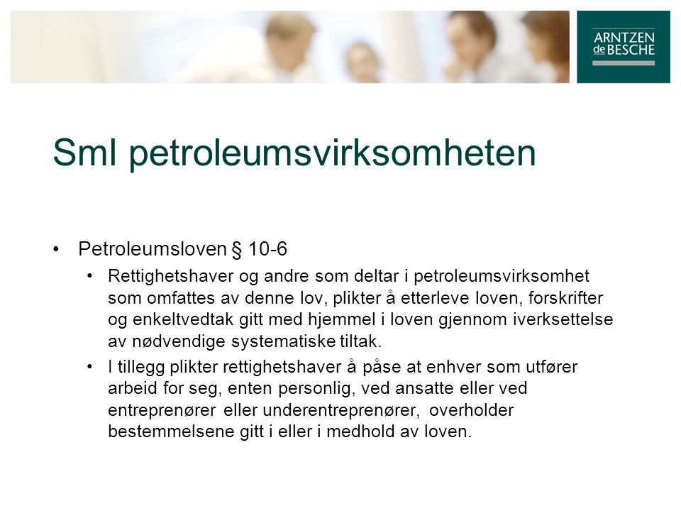 Sml petroleumsvirksomheten