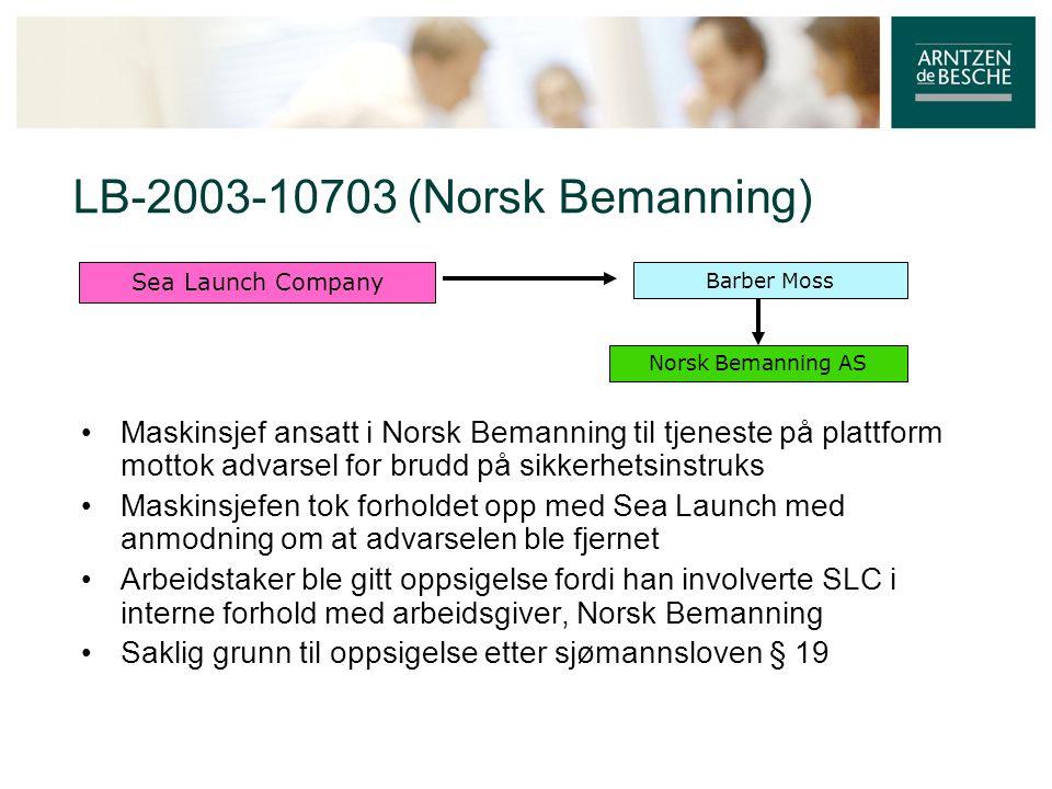 LB-2003-10703 (Norsk Bemanning)