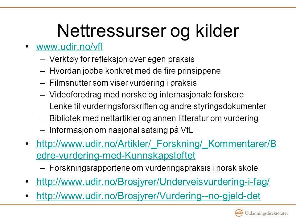 Nettressurser og kilder