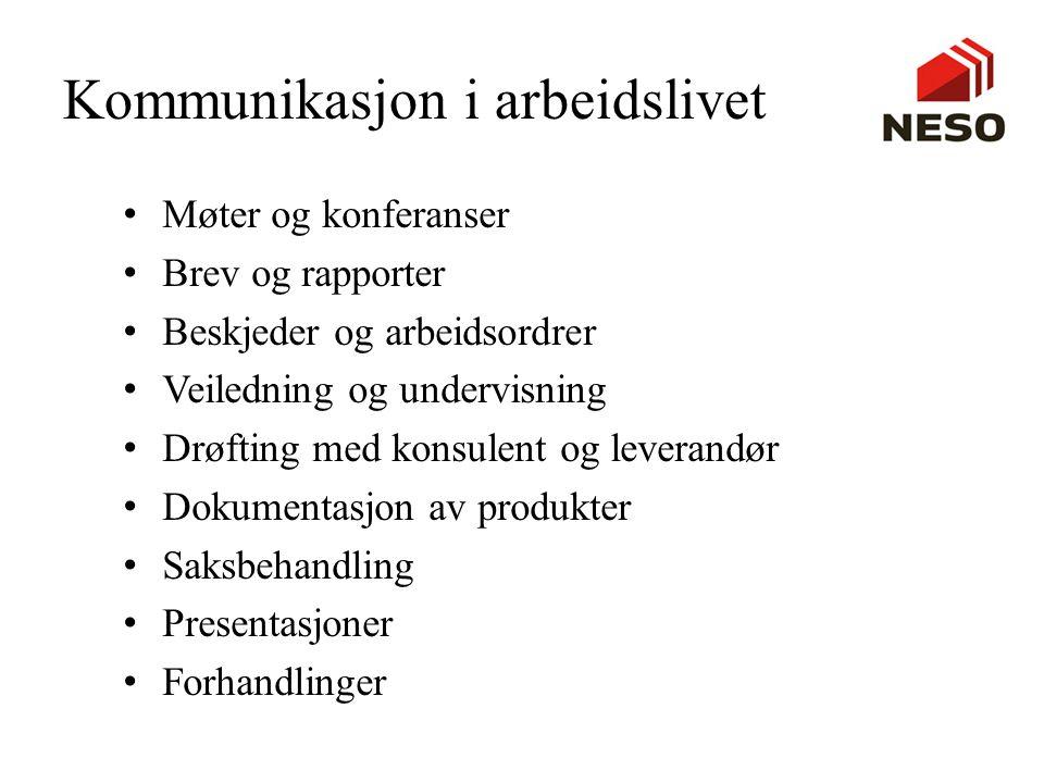 Kommunikasjon i arbeidslivet