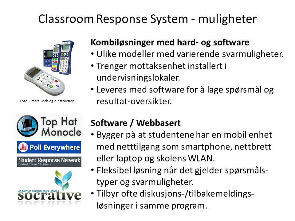 Classroom Response System - muligheter