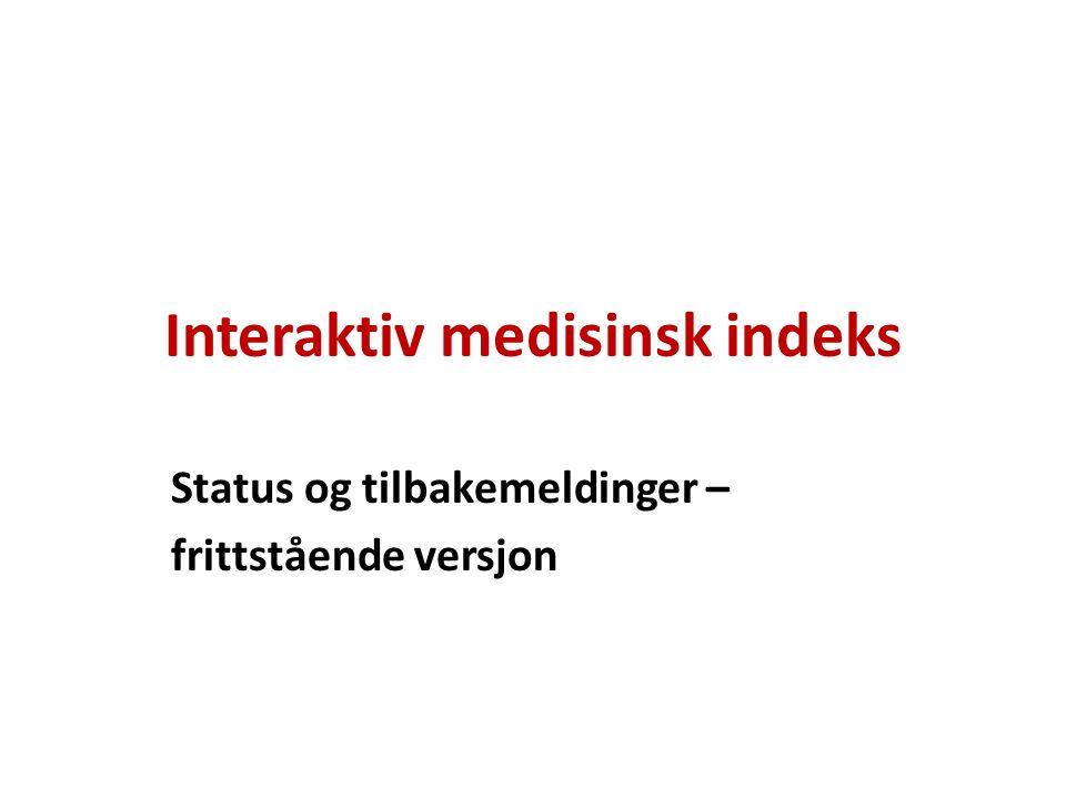 Interaktiv medisinsk indeks