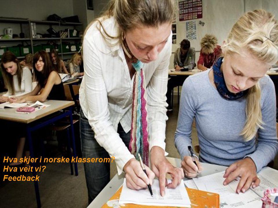 Hva skjer i norske klasserom