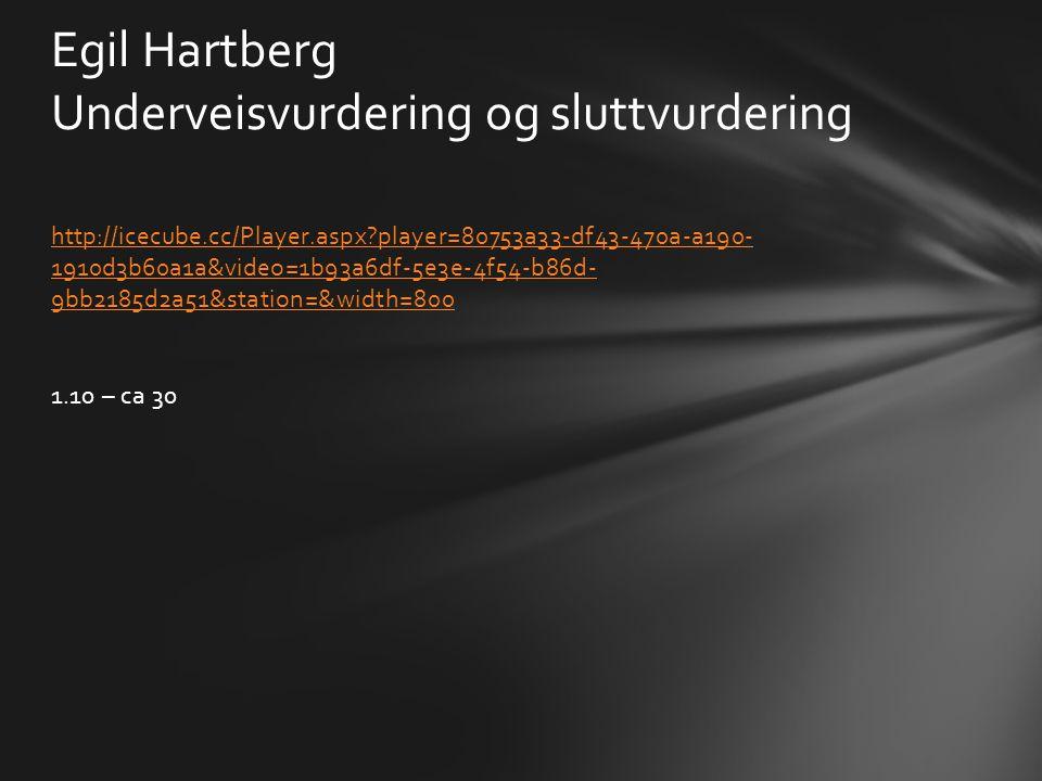 Egil Hartberg Underveisvurdering og sluttvurdering