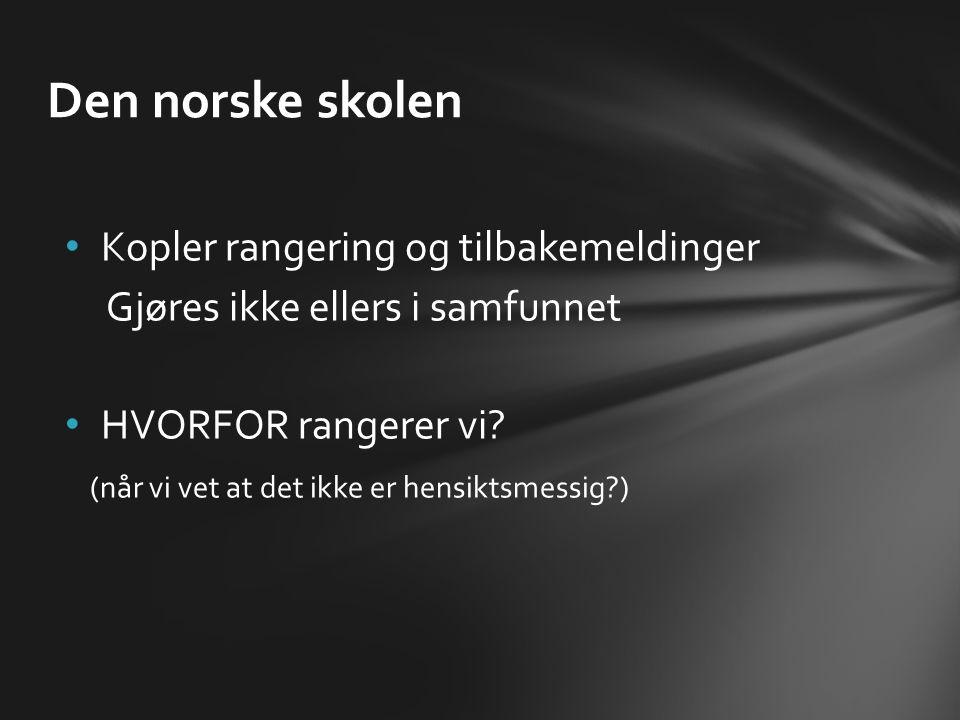 Den norske skolen Kopler rangering og tilbakemeldinger