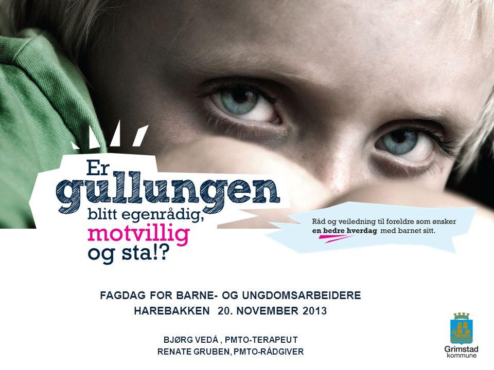 Fagdag for barne- og ungdomsarbeidere Harebakken 20. november 2013