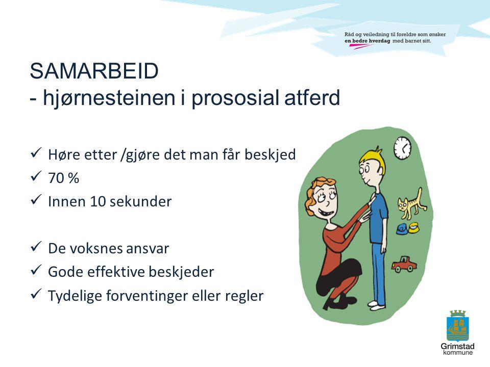SAMARBEID - hjørnesteinen i prososial atferd