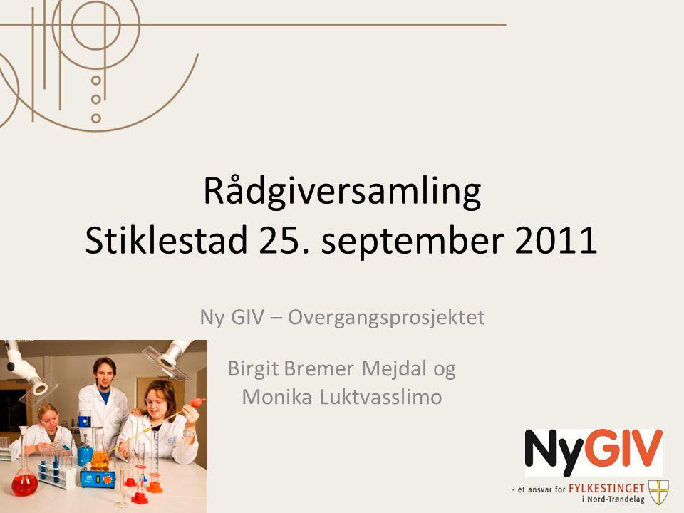 Rådgiversamling Stiklestad 25. september 2011