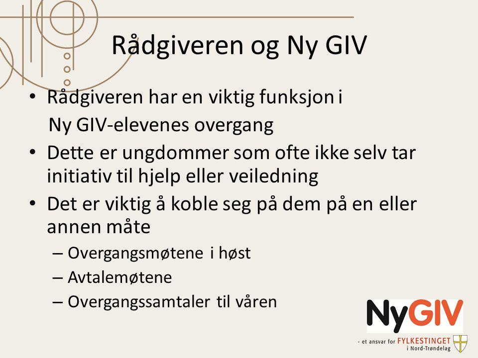 Rådgiveren og Ny GIV Rådgiveren har en viktig funksjon i