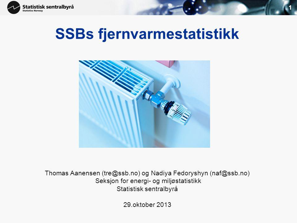 SSBs fjernvarmestatistikk