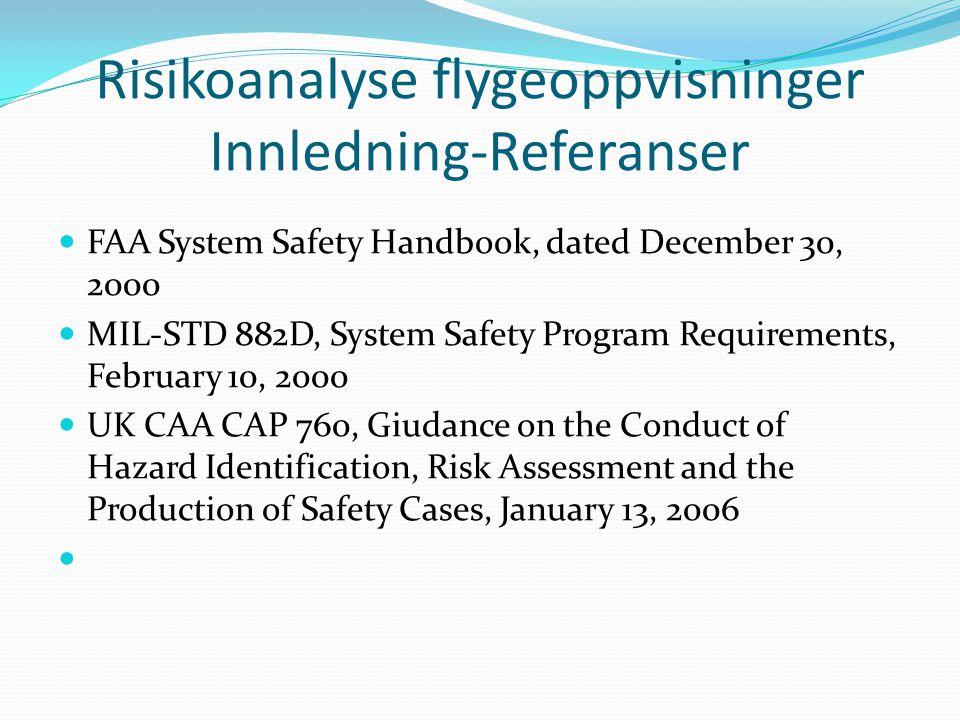Risikoanalyse flygeoppvisninger Innledning-Referanser