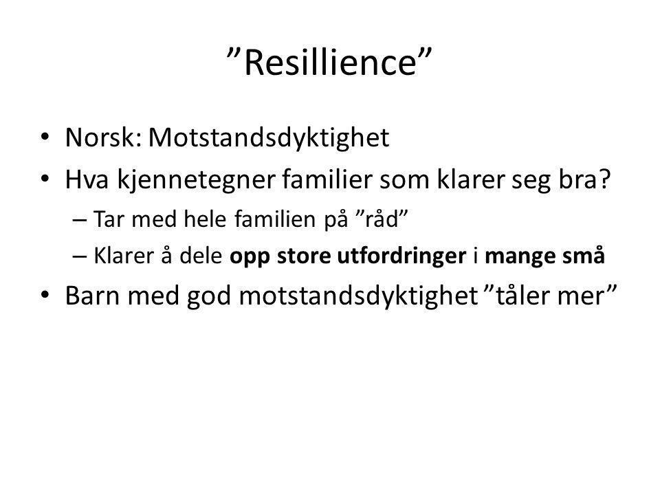 Resillience Norsk: Motstandsdyktighet