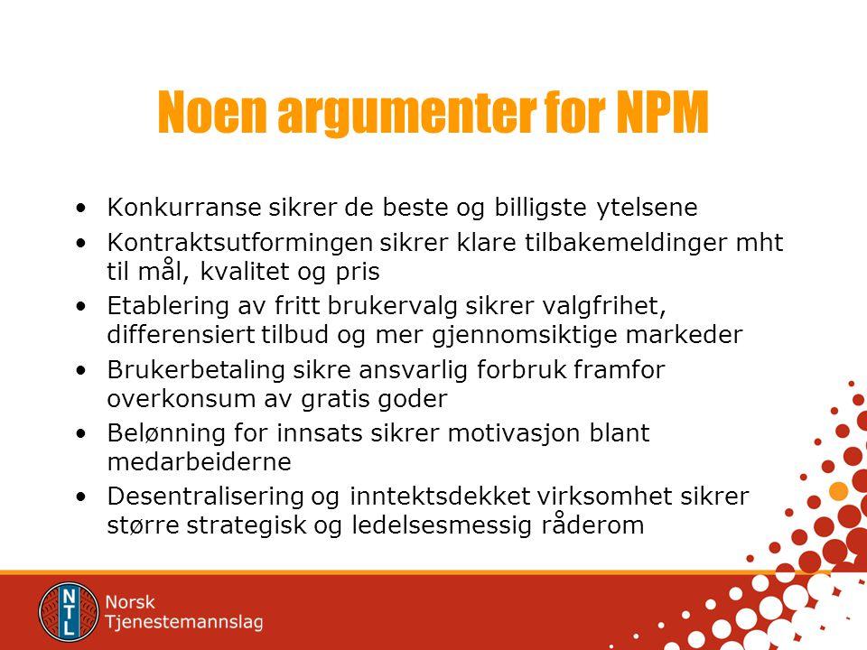 Noen argumenter for NPM