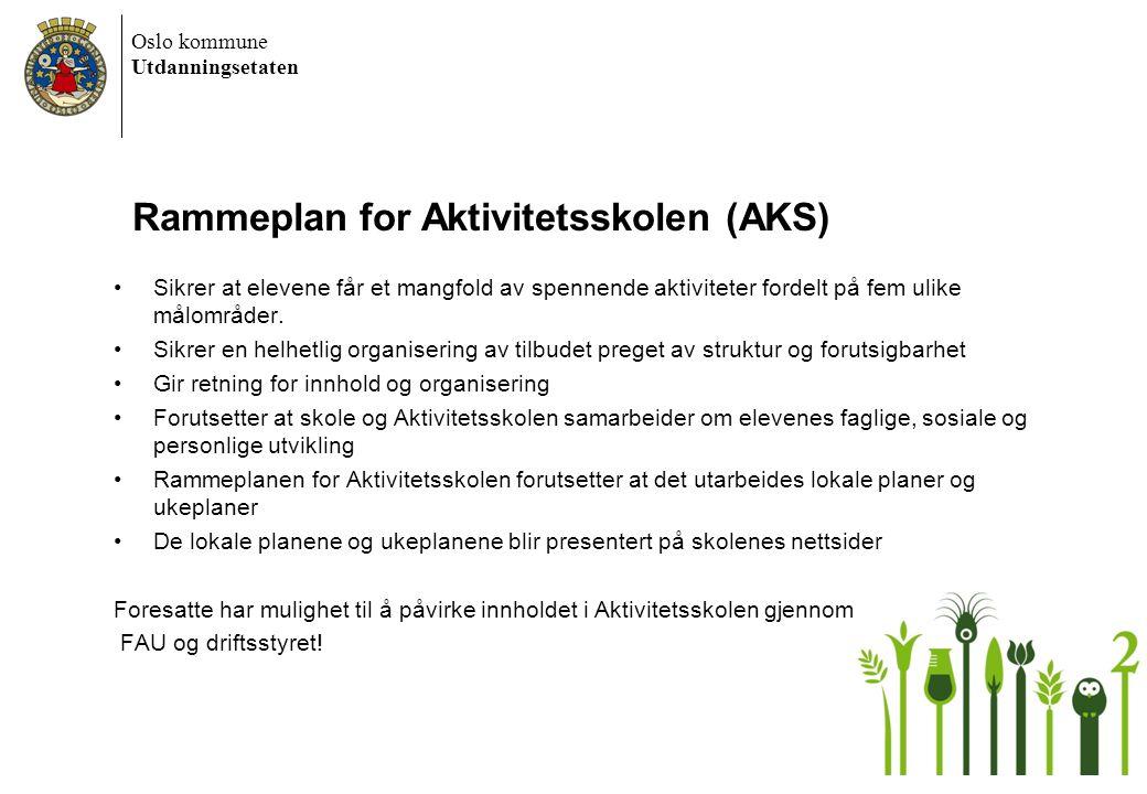 Rammeplan for Aktivitetsskolen (AKS)