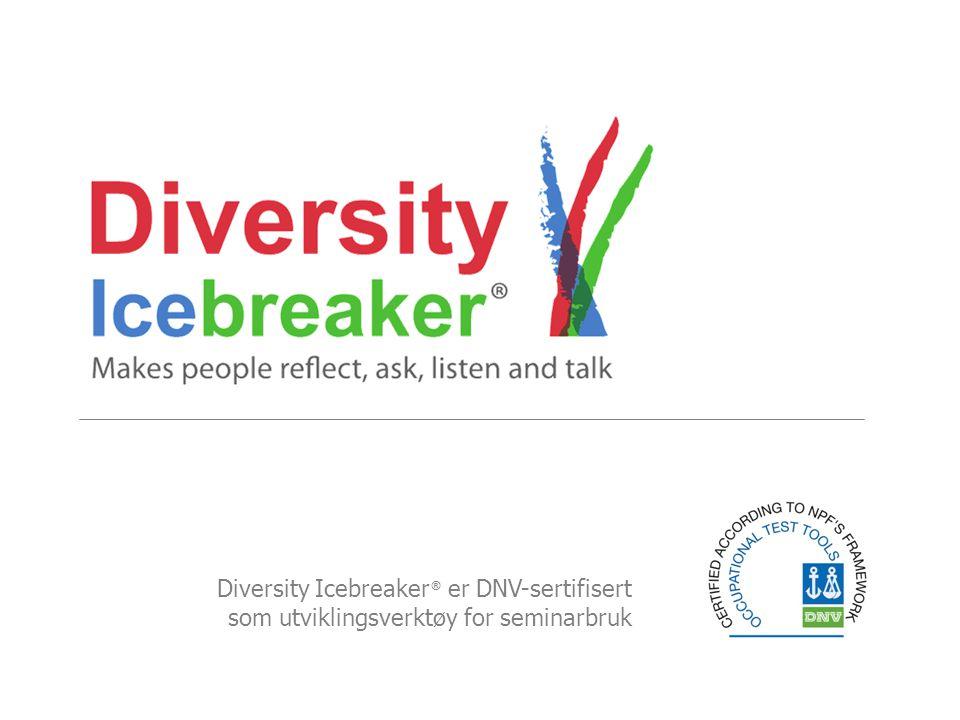 Diversity Icebreaker® er DNV-sertifisert som utviklingsverktøy for seminarbruk