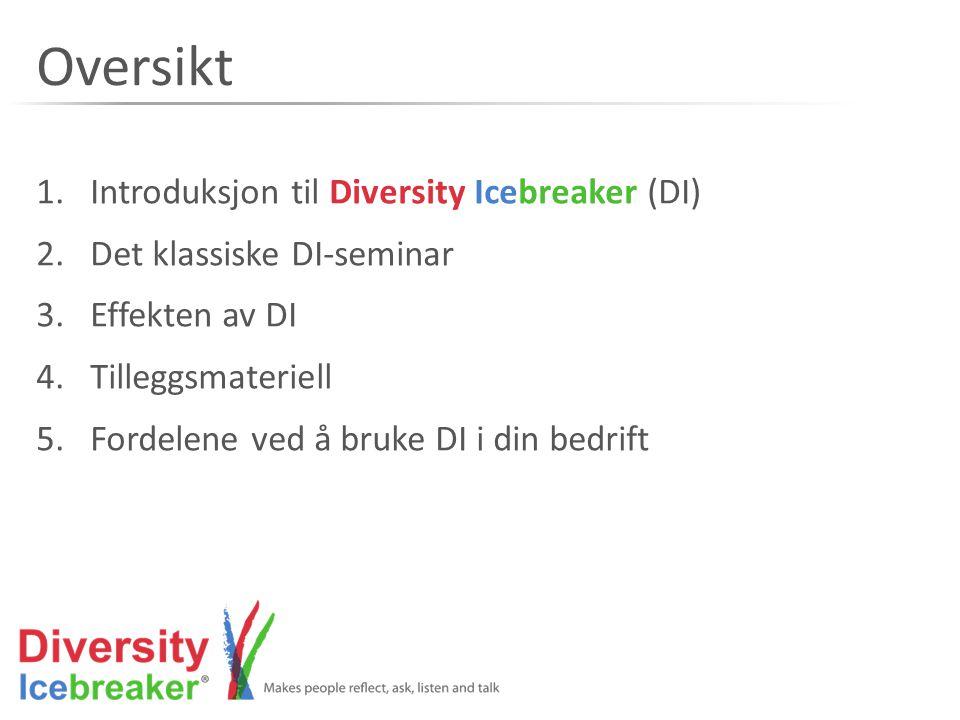 Oversikt Introduksjon til Diversity Icebreaker (DI)