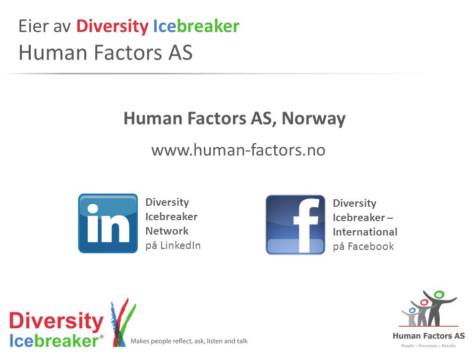 Eier av Diversity Icebreaker Human Factors AS