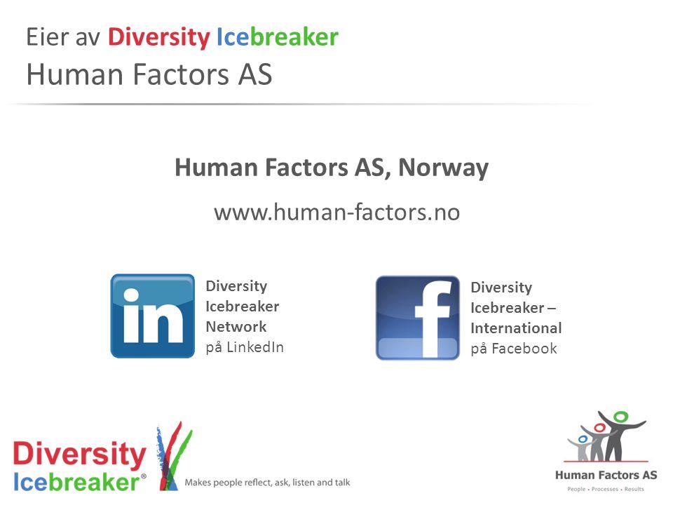 Eier av Diversity Icebreaker Human Factors AS