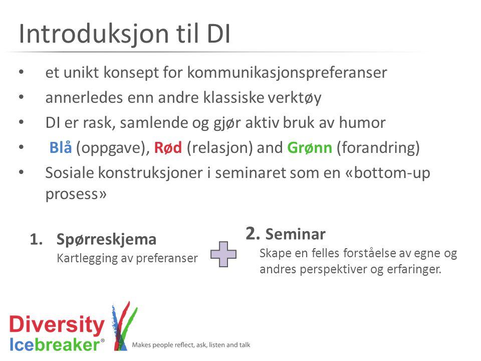 Introduksjon til DI 2. Seminar