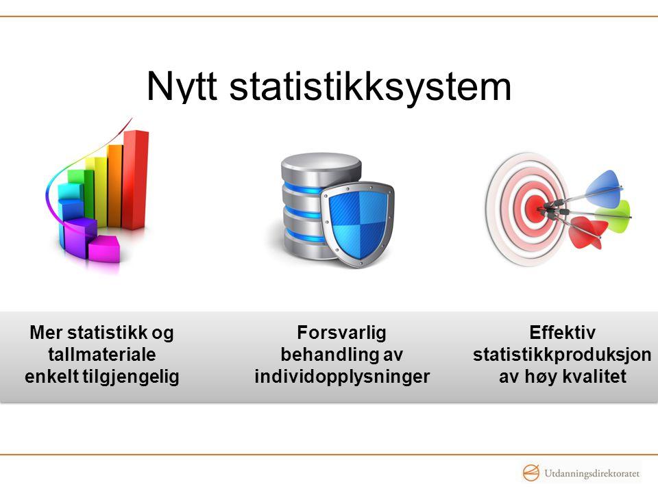 Nytt statistikksystem