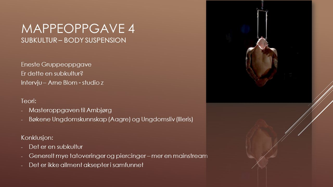 Mappeoppgave 4 subkultur – body suspension
