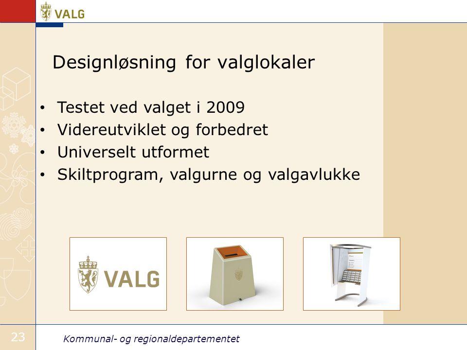 Designløsning for valglokaler