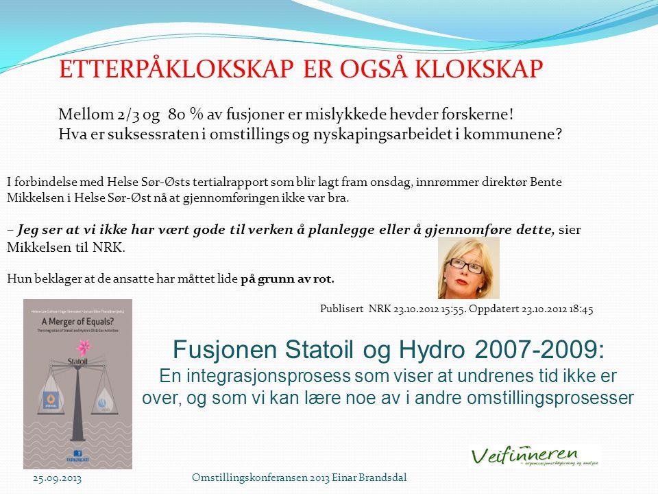 Fusjonen Statoil og Hydro 2007-2009: