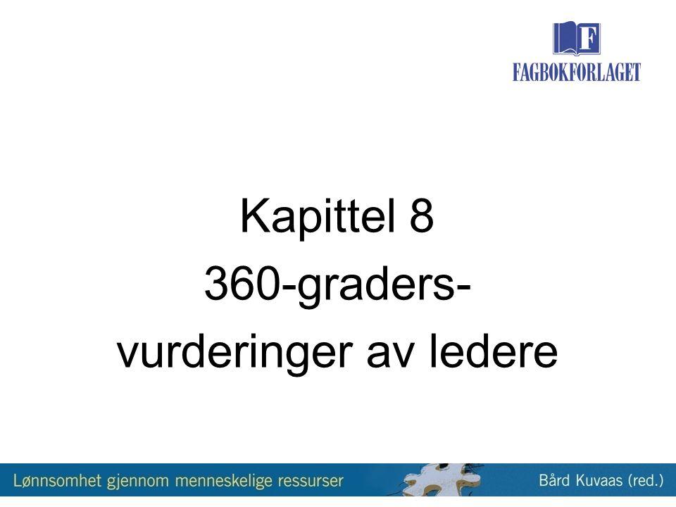 Kapittel 8 360-graders- vurderinger av ledere