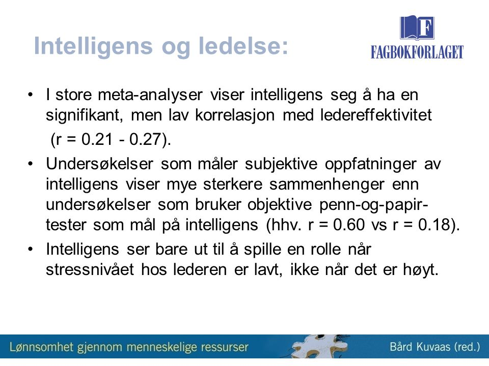 Intelligens og ledelse: