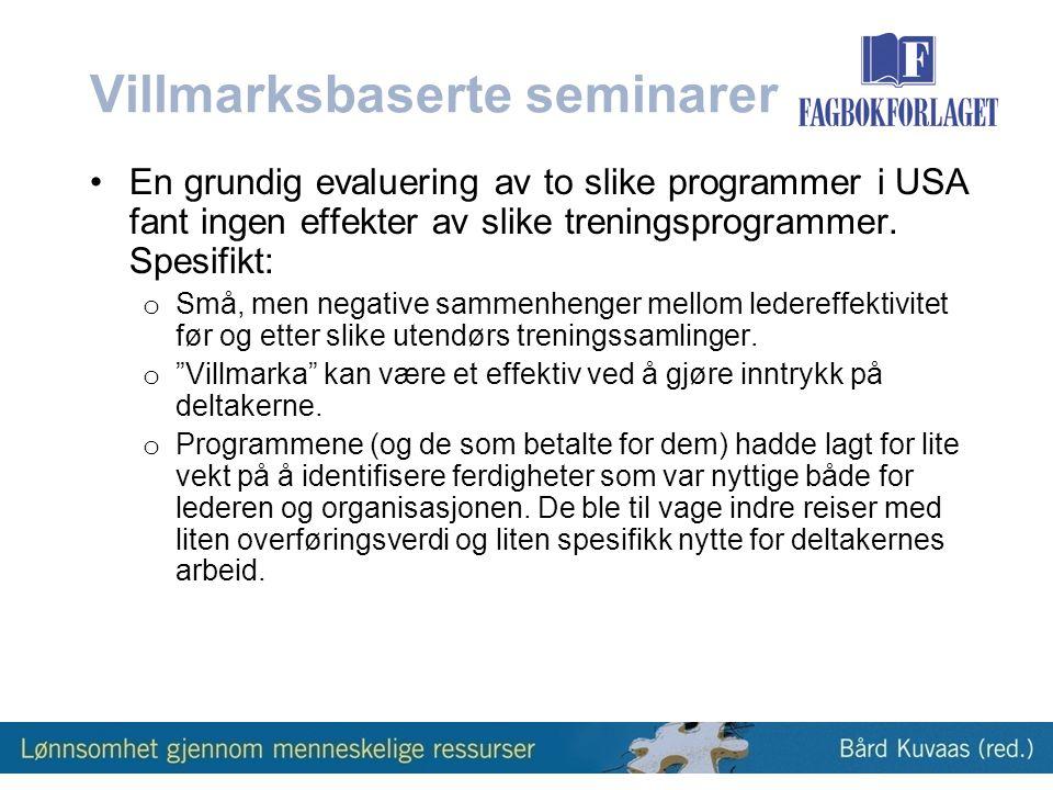 Villmarksbaserte seminarer