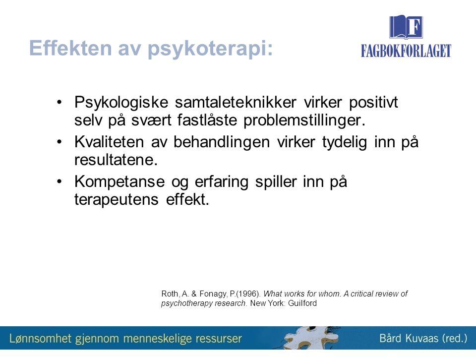 Effekten av psykoterapi:
