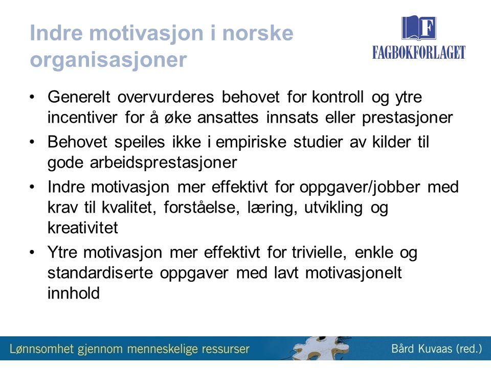 Indre motivasjon i norske organisasjoner